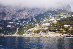 Panorama of Capri Island Royalty Free Stock Photos