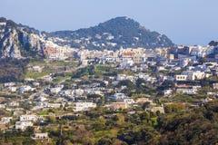 Panorama of Capri Island Stock Photo