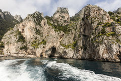 Panorama of Capri Island Stock Photo