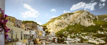 Panorama of Capri island in Italy Stock Images