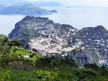 Panorama of Capri island, Italy, near Naples. Stock Photos