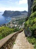 Panorama of Capri island, Italy, near Naples Royalty Free Stock Photos