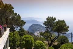 Panorama of Capri island from Monte Solaro, in Anacapri Stock Photography