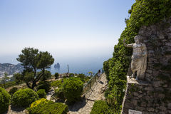 Panorama of Capri island from Monte Solaro, in Anacapri Stock Images