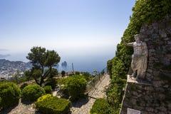 Panorama of Capri island from Monte Solaro, in Anacapri Stock Photos