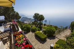 Panorama Capri wyspa od Monte Solaro w Anacapri, Obrazy Stock