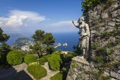 Panorama Capri wyspa od Monte Solaro w Anacapri, Zdjęcia Royalty Free