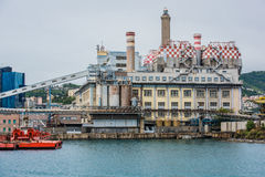 Panorama of cargo Genoa Port Royalty Free Stock Images