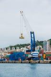 Panorama of cargo Genoa Port Royalty Free Stock Photos