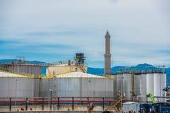 Panorama of cargo Genoa Port Stock Photo