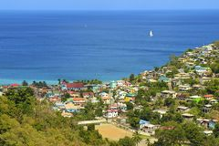Panorama of Caribbean city,  Caribbean Stock Images