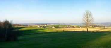 Panorama in Carpathian hills Stock Photo