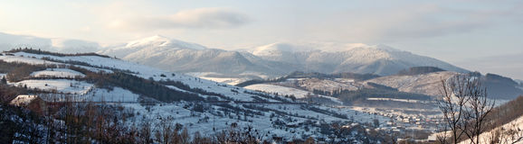 Panorama of Carpathian mountains Stock Photo