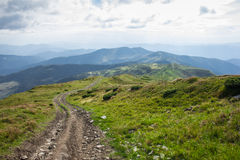 Panorama of the Carpathian Mountains.  Royalty Free Stock Images
