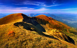 Panorama of the Carpathian Mountains Royalty Free Stock Photos