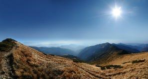 Panorama Carpathian mountains Royalty Free Stock Image