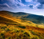 Panorama of the Carpathian Mountains Royalty Free Stock Images