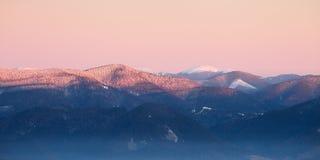 Panorama of Carpathian mountains ridge Stock Images
