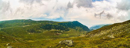 Panorama with the Carpathian mountains Royalty Free Stock Images