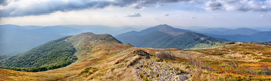Panorama on Carpathians mountains Stock Photos