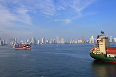 Panorama of Cartajena, Colombia, Caribbean Stock Image