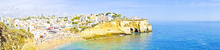 Panorama from Carvoeiro in Portugal Stock Photography