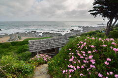 Panorama from Casa de Isla Negra house museum of Pablo Neruda. Isla Negra. Chile Stock Photos