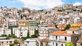 Panorama of Castiglione di Sicilia town in Sicily Stock Images