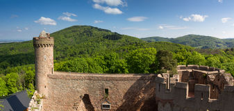 Panorama of Castle Auerbach in spring. Hessen, Germany Royalty Free Stock Photo