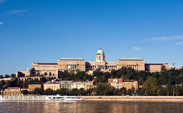 Panorama of the Castle of Buda in Budapest Royalty Free Stock Images