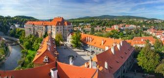 Panorama of castle in Cesky Krumlov Royalty Free Stock Photo