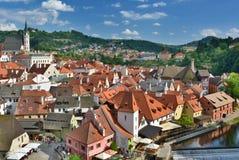 Panorama from the Castle. Český Krumlov. Czech Republic Stock Photo