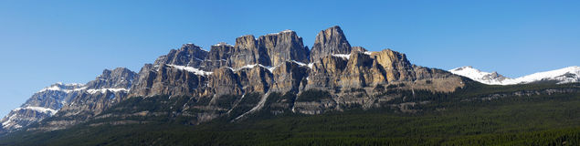 Panorama of castle mountain Royalty Free Stock Photo