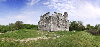 Panorama of the castle ruins Stock Photo
