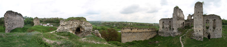 Panorama of Castle ruins Royalty Free Stock Images