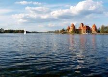 Panorama of Castle Trakai Stock Photo