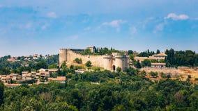 Panorama of Castle Villeneuve les Avignon, France Royalty Free Stock Images