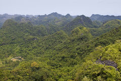 Panorama of Cat Ba National Park Stock Image
