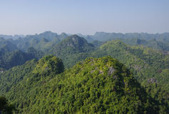 Panorama of Cat Ba National Park. In Vietnam Stock Photo