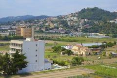 Panorama of Catalunia, Costa Brava, Spain. Panorama of countryside in Catalunia, Costa Brava, Spain royalty free stock image