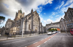 Panorama of The Cathedral of Dublin Royalty Free Stock Image