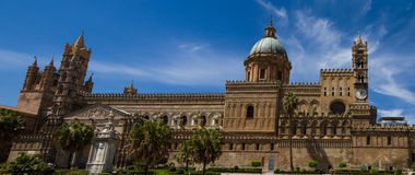 Panorama of the cathedral of Palermo Stock Images