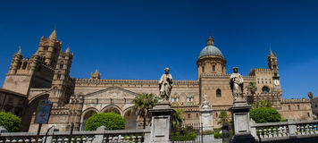 Panorama of the cathedral of Palermo Stock Photos