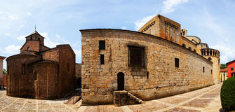 Panorama of Cathedral of Santa Maria d'Urgell Stock Photography