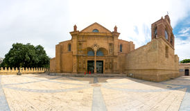 Panorama of Cathedral of Santa Maria la Menor in the Colonial Zone of Santo Domingo. Dominican Republic. It is the oldest cathedral in the Americas, completed Stock Photos