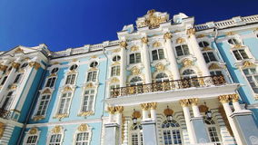 Panorama of Catherine Palace Front in Pushkin city Stock Photos