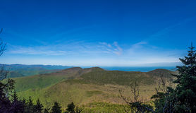 Panorama of Catskill Mountains. As seen from Slide Mountain royalty free stock photography