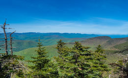 Panorama of Catskill Mountains. As seen from Slide Mountain royalty free stock photo