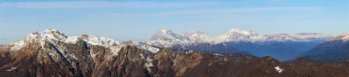 Panorama of the Caucasus mountain Stock Photo