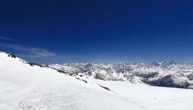 Panorama of the Caucasus mountain range Royalty Free Stock Image
